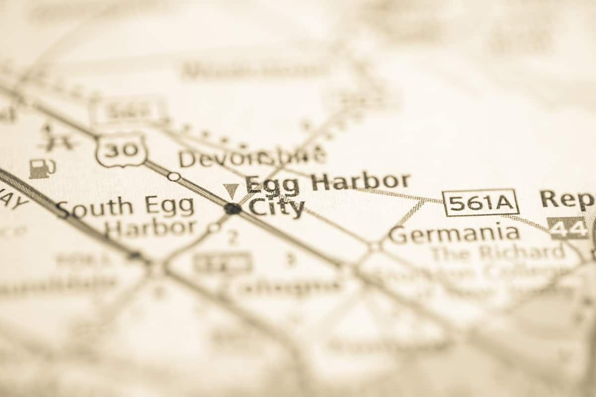 Eg Harbor City, Egg Harbor Township New Jersey map